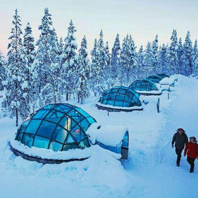 Переночевать в Kakslauttanen Arctic Resort в Финляндии