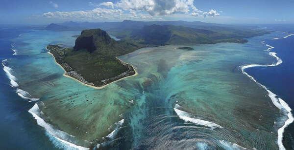 Подводный водопад, Маврикий