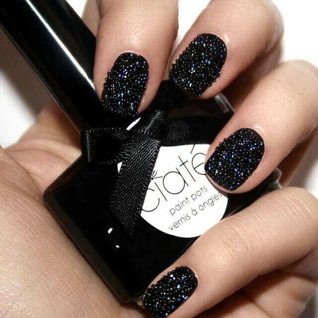 Black Pearls Caviar Manicure by Ciaté