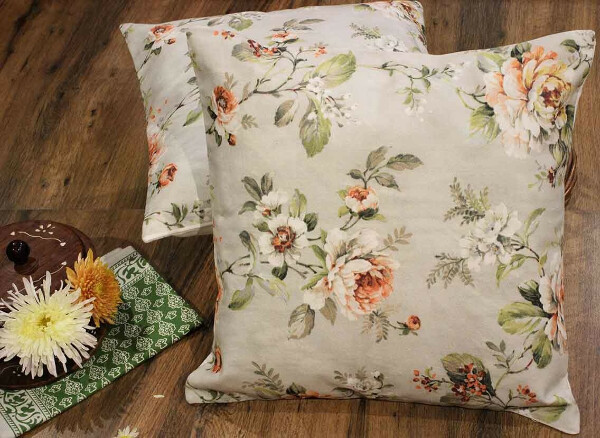 Floral in my room cotton cushion covers- Set of 2