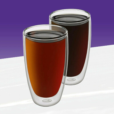 4 стакана с двойным дном 400-500мл