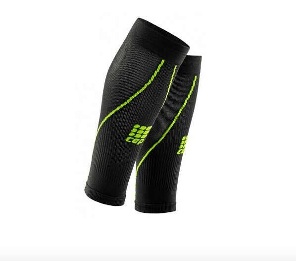 Компрессионные гетры CEP для спорта, ультратонкие, женские, чёрно-зеленый
