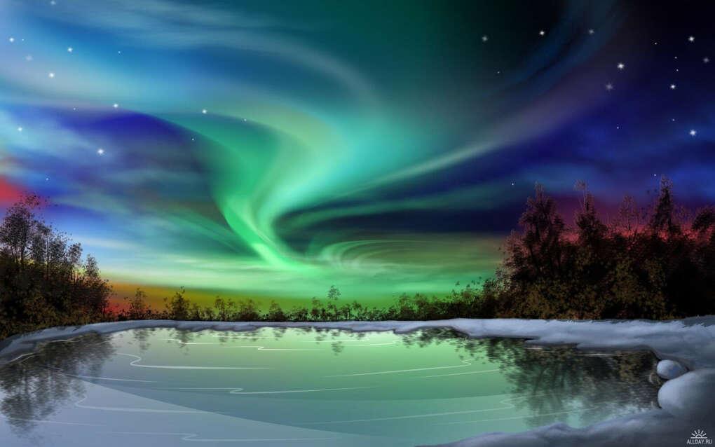 Увидеть северное сияние