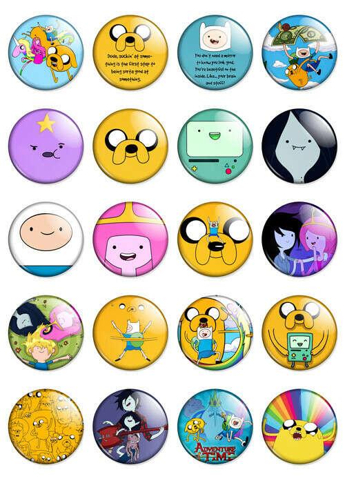 Набор значков Adventure Time