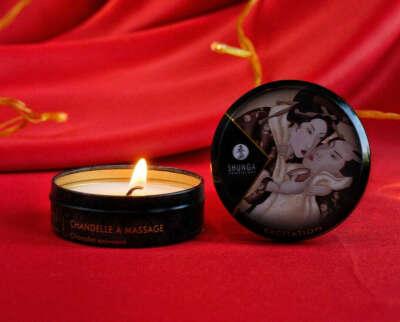 Арома-свеча с массажным воском
