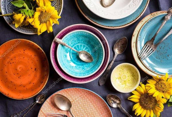 Посуда в стиле бохо