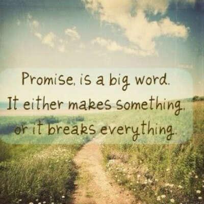 Выполнять данные себе обещания