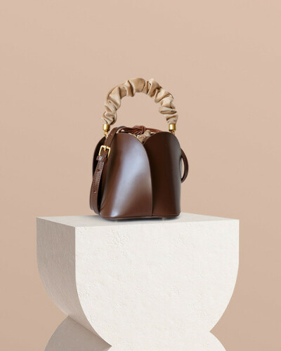 Lotus Leather Bucket Bag