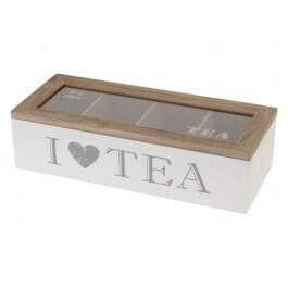 Бокс для хранения чая I love tea купить по лучшей цене  в интернет-магазине HOMSTER