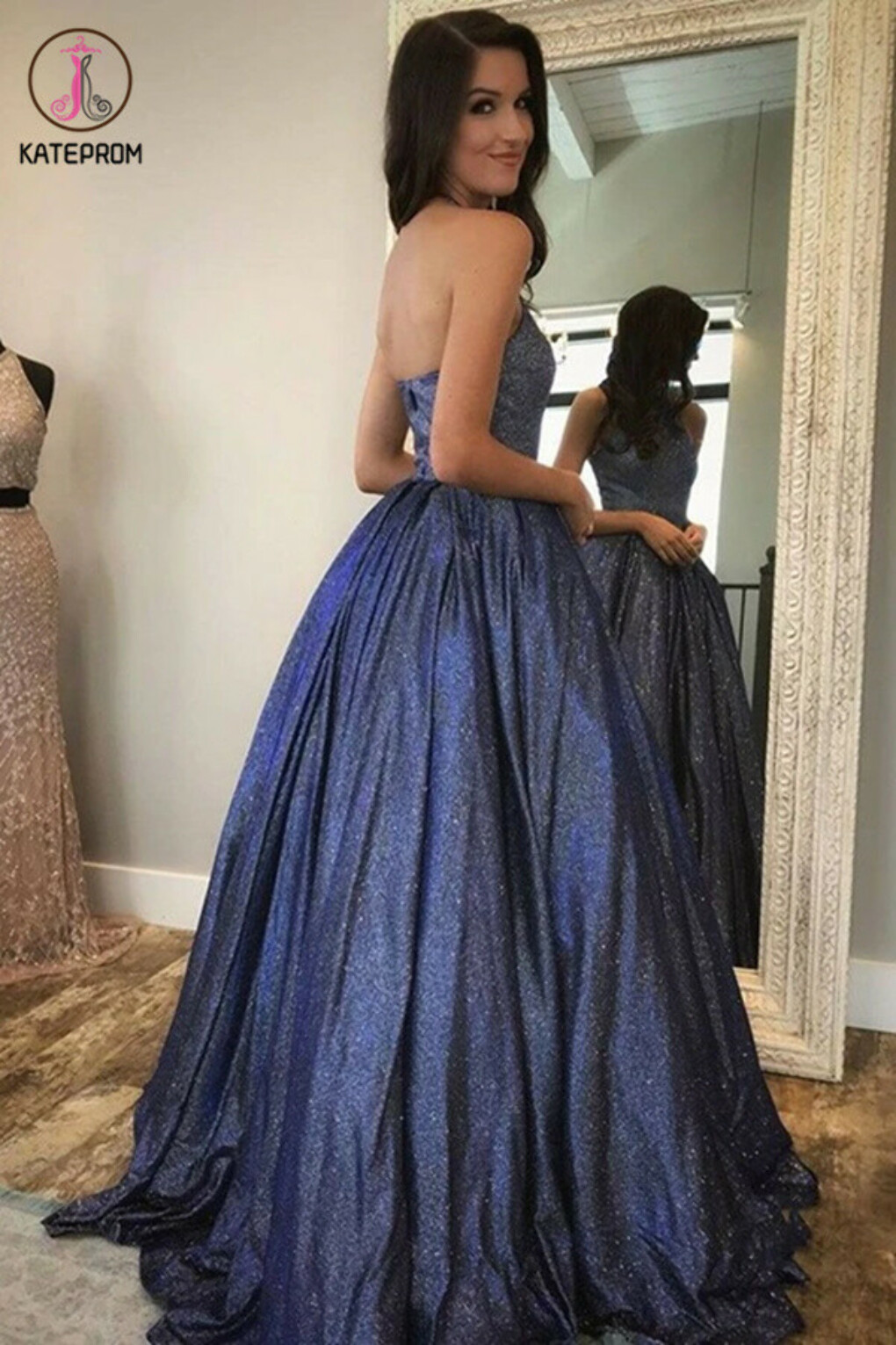 Kateprom Newest Halter Zipper Back Long Prom Dresses Cute Party Gowns KPP1344