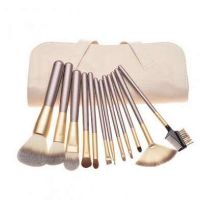 Набор кистей для макияжа MAKE UP FOR YOU 12 штук + чехол (10006)
