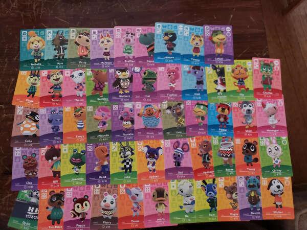 Полный набор Amiibo карточек для Animal Crossing