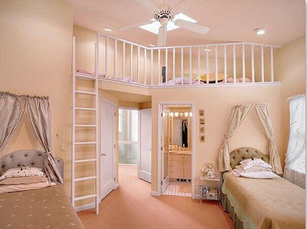 Детскую комнату со вторым этажом