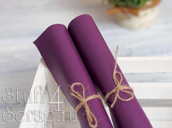 Кожзам фиолетовый