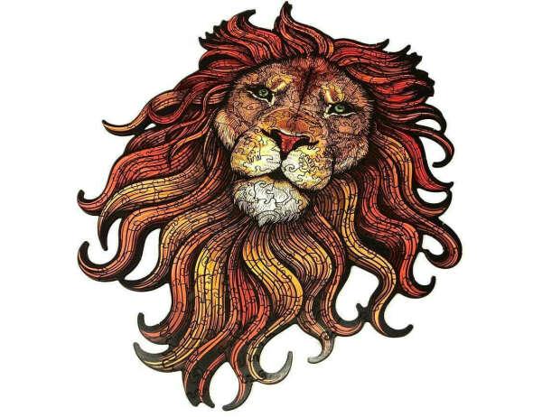 """Фигурные деревянные пазлы """"Королевский лев"""""""