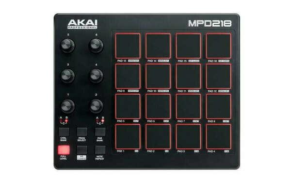 MIDI Controller: AKAI PRO MPD218