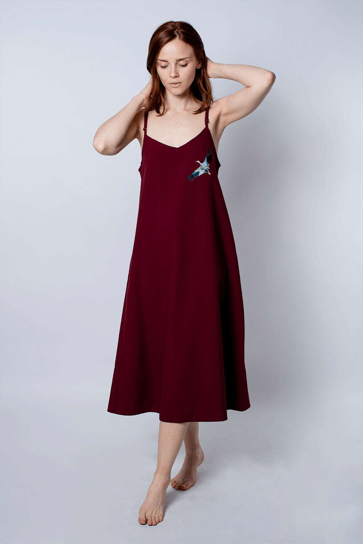 Платье Комбинация Габардин Бордовое Аист