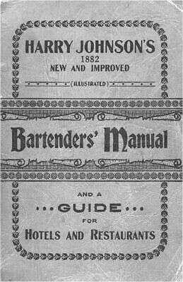 Bartender's Manual Гарри Джонсона