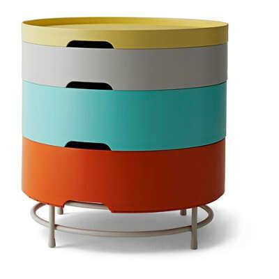 ИКЕА ПС 2014 Столик с отделниями д/хранения - разноцветный  - IKEA