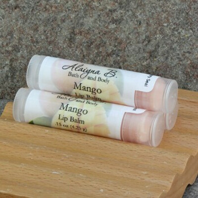 Mango Flavored Lip Balm with Mango and Cocoa Butters Item Id: LB-Mango