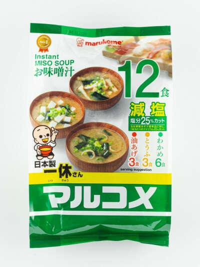 Мисо-суп ассорти Марукоме с пониженным содержанием соли, консервированный, 230 гр., Marukome