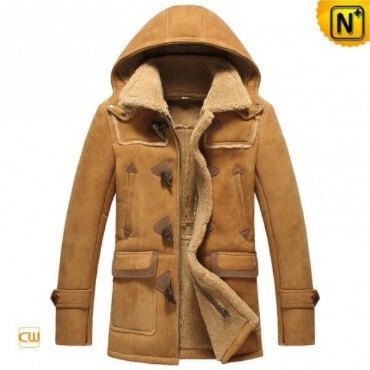 CWMALLS® Men Sheepskin Jacket with Hood CW877093