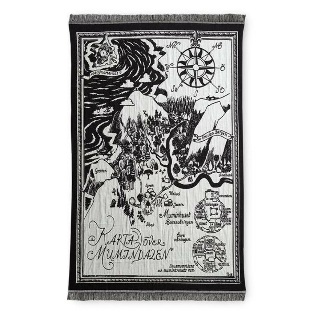 Moomin Map of Moominvalley Blanket - Finlayson