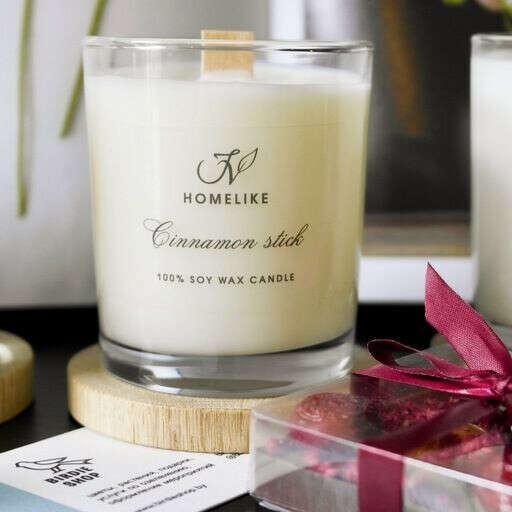 Соевая свеча с деревянным фитилем