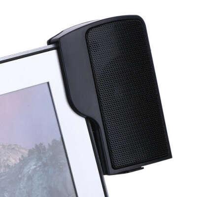 Стерео-колонки USB для ноутбука/ПК на прищіпках-кліпсах