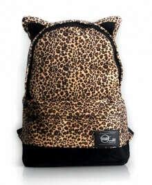 Рюкзак с ушками леопардовый