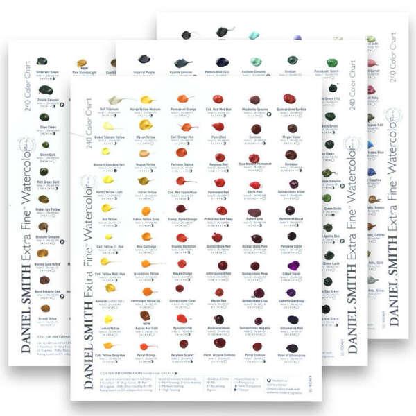 Дот-карта акварели Daniel Smith, 238 цветов (полная палитра)