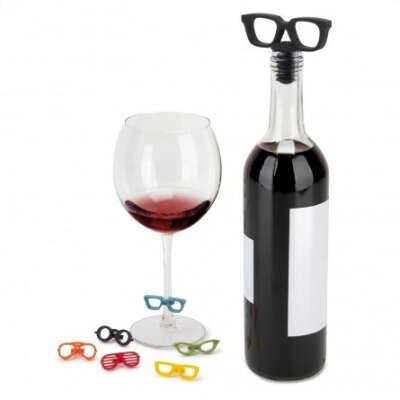 Пробка для бутылки и маркеры для бокалов Glasses