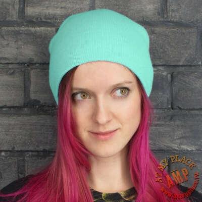 Бирюзовая шапка зимняя