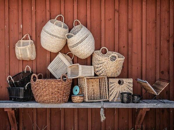 Плетеный декор (корзины и т.п)