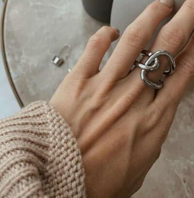 Кольцо Minimal Пересечение (серебро)