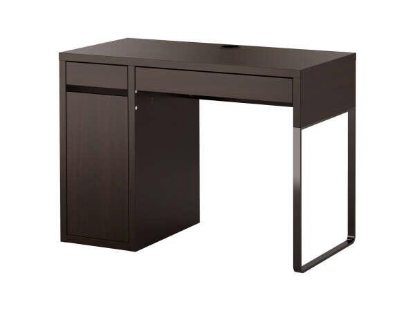 IKEA МИККЕ Письменный стол, черно-коричневый