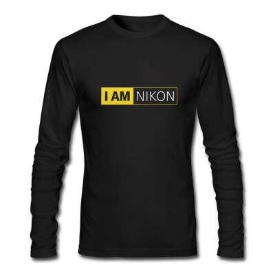 черная футболка,длинный рукав Никон ,размер м