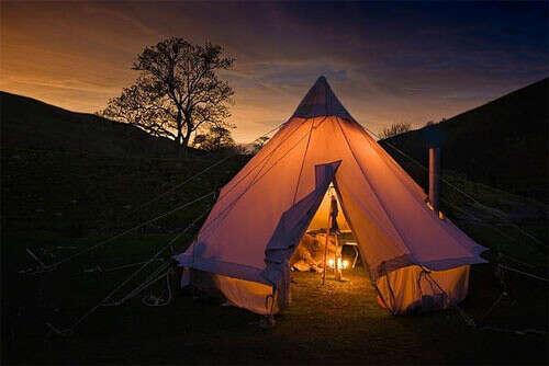 Отдых на пару дней с палатками
