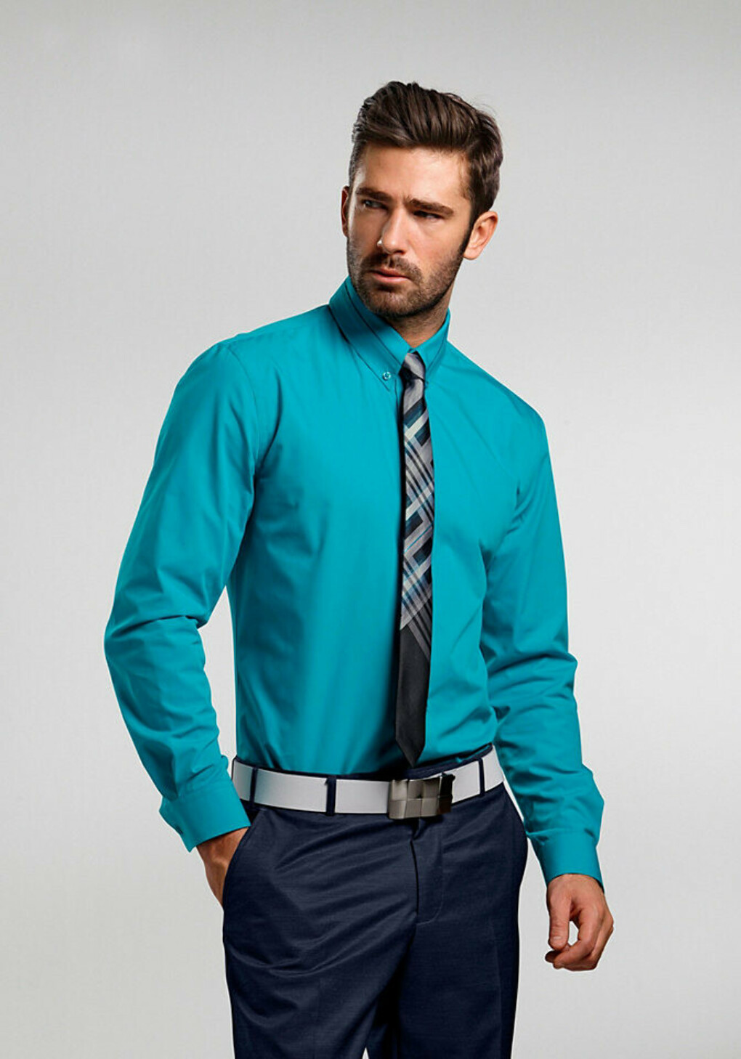 бирюзовая рубашка