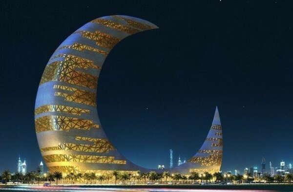 Небоскреб-полумесяц, Дубай, ОАЭ Dubai, United Arab Emirates