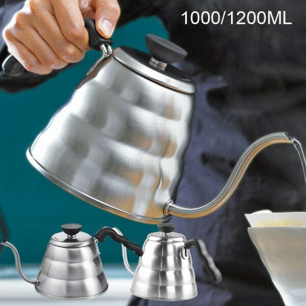 Чайник с длинным носиком для заваривания кофе
