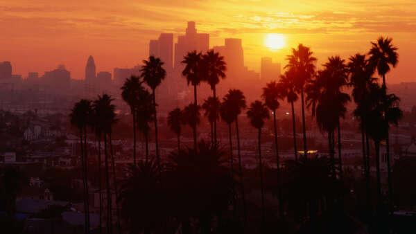 поехать в Лос-Анджелес