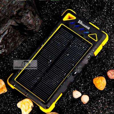 Водонепроницаемый Solar Power Bank 12.000 мАч с солнечной панелью - Активный Уикенд интернет-магазин