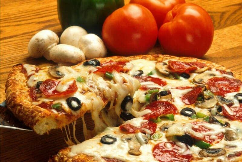 Большая сочная пицца