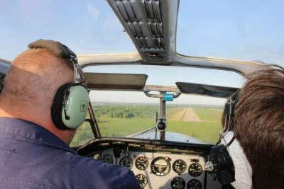 Полет на самолете за штурвалом