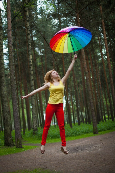 Большой зонт-радугу