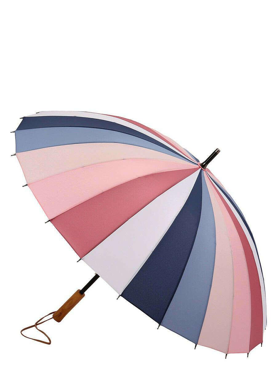 Зонт-трость, сектора, механический., ТРИ СЛОНА