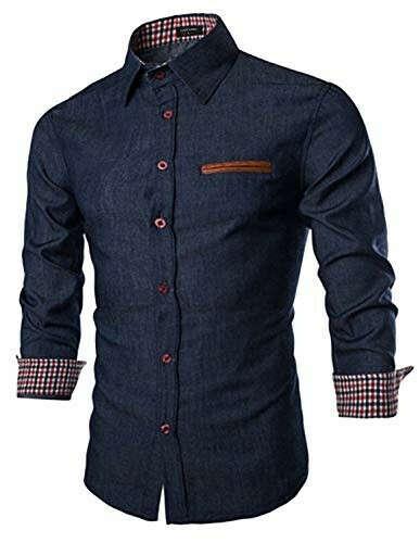 Men's Casual Dress Shirt Button Down Shi- Buy Online in Great Britain at Desertcart
