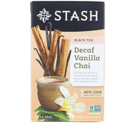 Stash Tea, Black Tea, Decaf Vanilla Chai