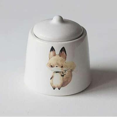 Чернильница-непроливайка с лисичкой